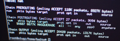 Iptables Stateful Firewall and NAT Routing | fabiobaltieri